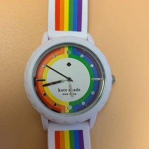 Kate Spade Morningside rainbow striped watch
